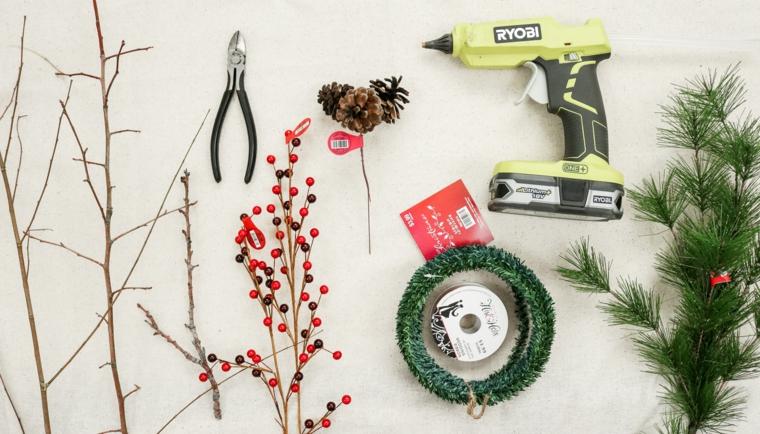 materiali per fare una corona ghirlande natalizie fai da te tutorial