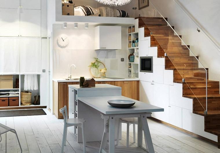 1001 idee per cucine moderne piccole soluzioni di design for Aprire le planimetrie con una vista