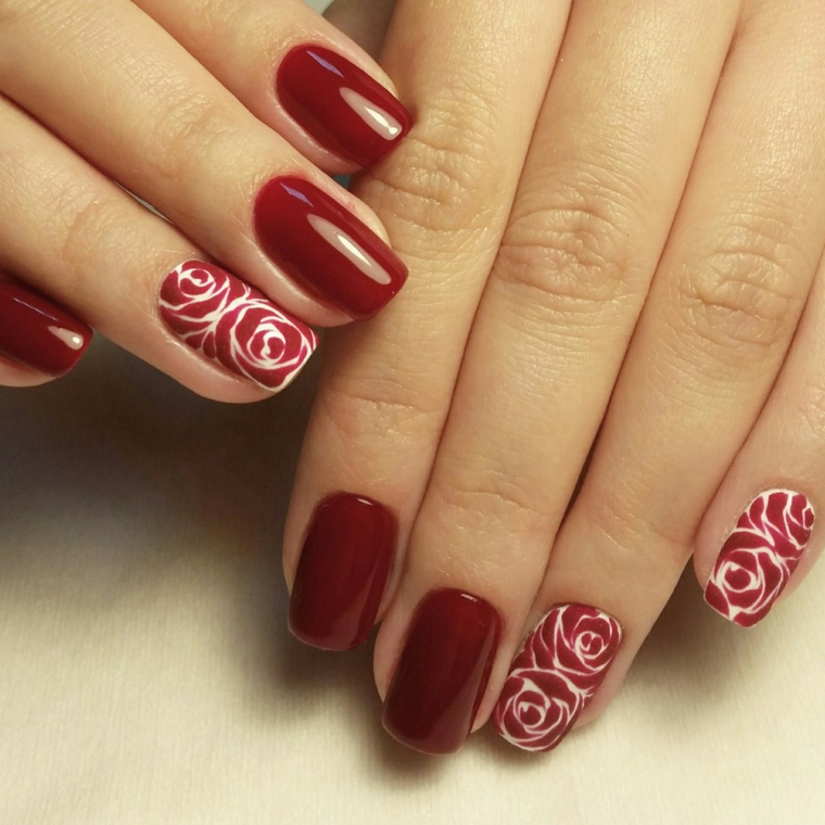 Unghie Con Disegni Di Natale.1001 Idee Per Nail Art Natalizie Per Arricchire Il Look Delle Feste