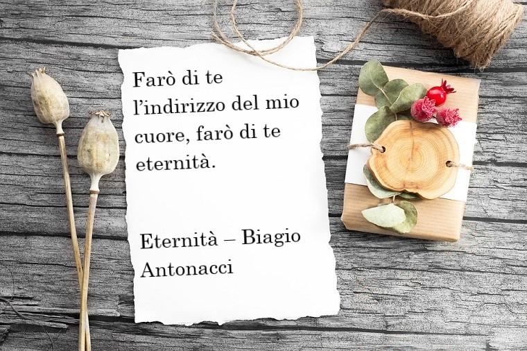 Frasi sull'amore e una dedica bellissima tratta della canzone di Biagio Antonacci, Eternità