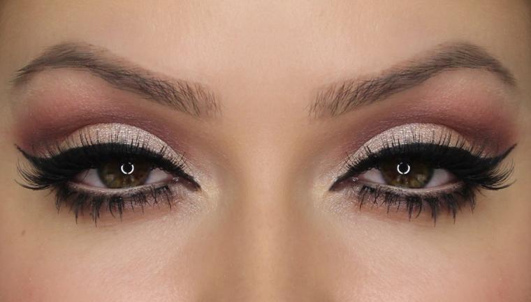un trucco per gli occhi semplice ma sofisticato al tempo stesso, adatto agli occhi castani