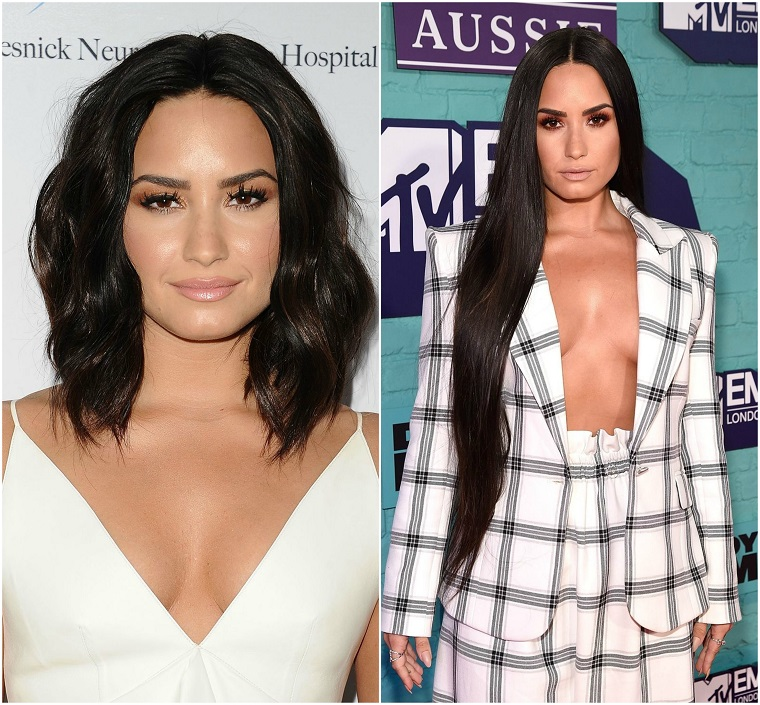Tagli lunghi, la trasformazione di Demi Lovato con un'acconciatura capelli corti e una lunghi