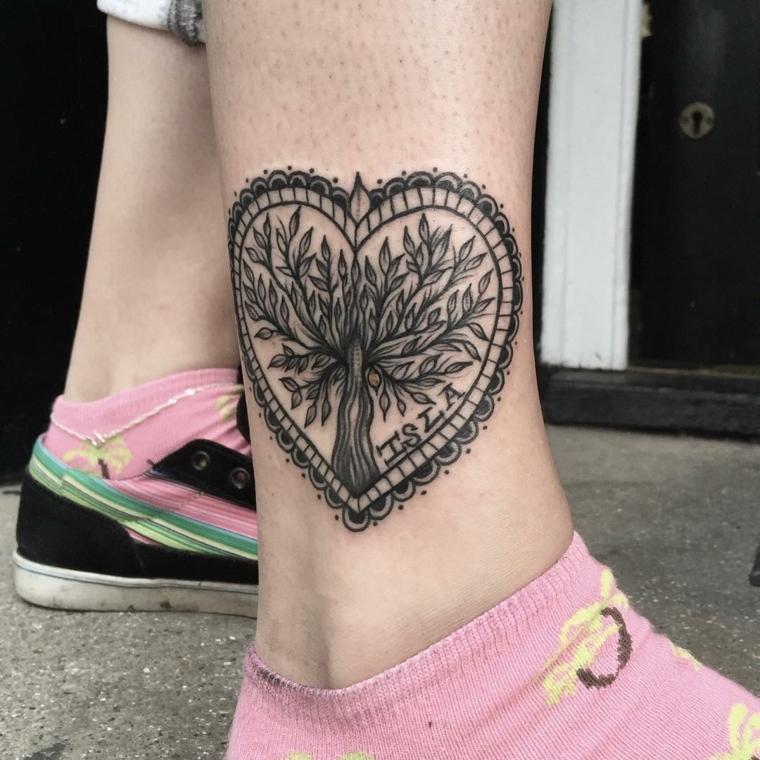1001 idee per tatuaggi caviglia per lei per lui e per la for Minimal significato