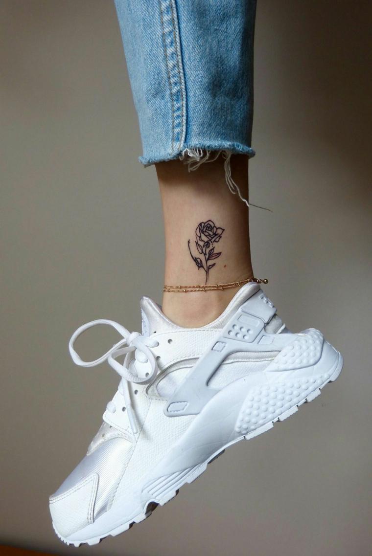 Piccoli Stivali E Sopra Lei ▷ 1001+ idee per tatuaggi caviglia per lei, per lui e per