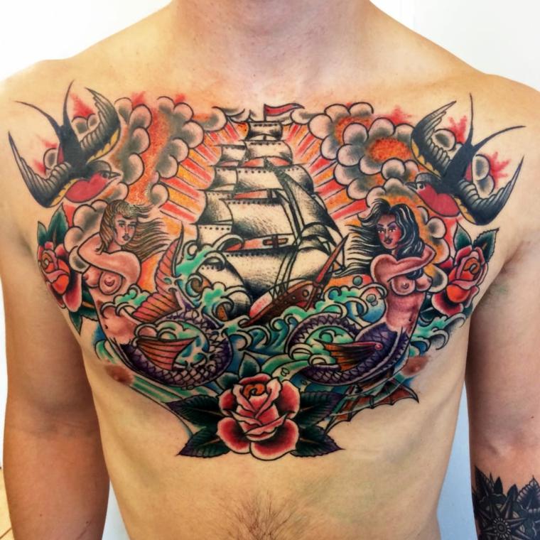1001 idee per tattoo old school tutte da personalizzare for Tatuaggi idee uomo