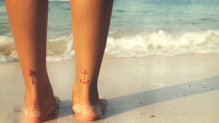 1001+ idee per tatuaggi caviglia per lei, per lui e per la ...