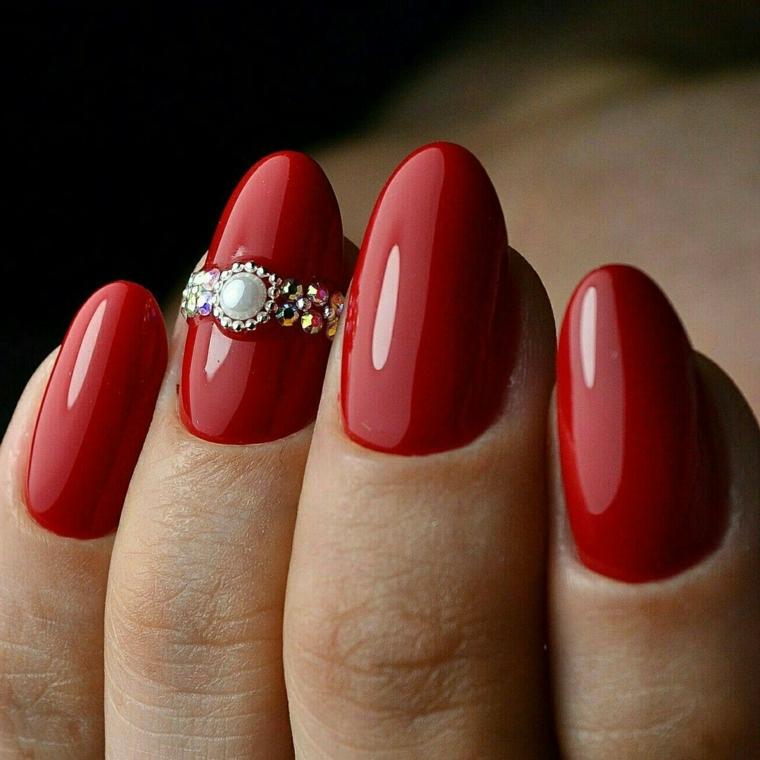 Unghie rosse \u2013 Tantissime idee per scegliere la manicure di capodanno!