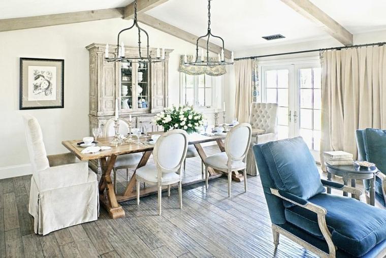 1001 idee per stile shabby l 39 arredo e la decorazione for Idee arredamento soggiorno pranzo