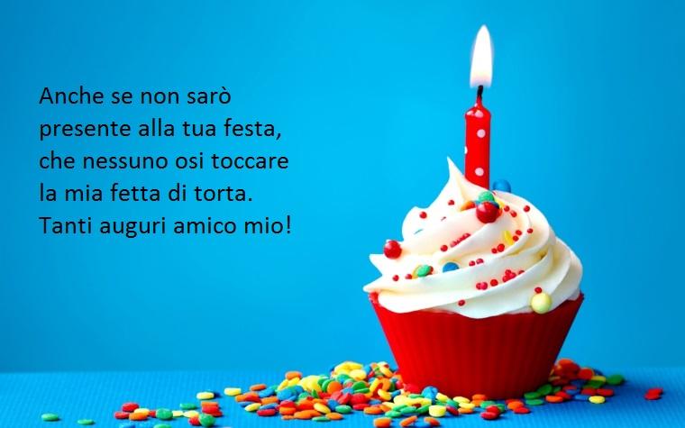 un'idea per frasi buon compleanno speciali da dedicare ad un amico ironizza sulla torta