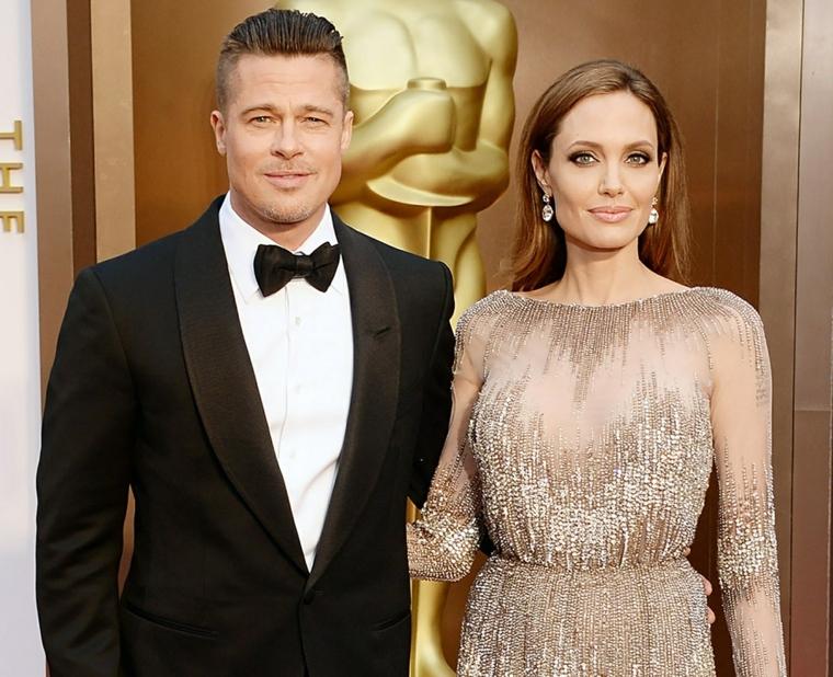 La coppia più famosa di Hollywood, Angelina e Brad alle premiazioni Oscar vestiti in modo elegante