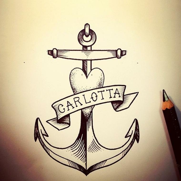 1001 idee per tatuaggio cuore in tutte le possibili opzioni for Disegni belli da disegnare