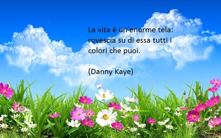 la vita immaginata come un'enorme tela, ecco una delle tante citazioni belle di danny kaye