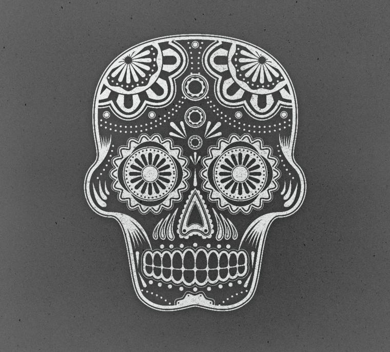 teschio messicano, idea anche per un tatuaggio tutto da personalizzare