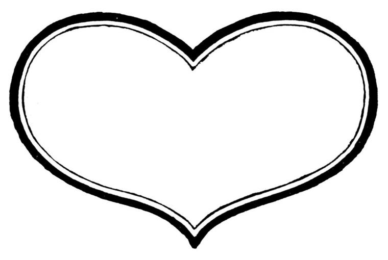 una proposta di cuoricino tatuaggio in bianco e nero dalla forma tonda e morbida