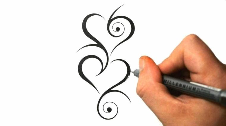 un'idea per realizzare un cuoricino tattoo stilizzato e originale da personalizzare