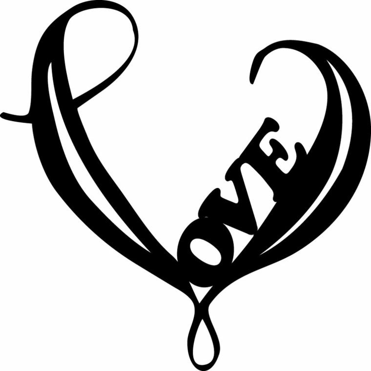 un'idea particolare per realizzare dei tatuaggi a cuore con delle scritte