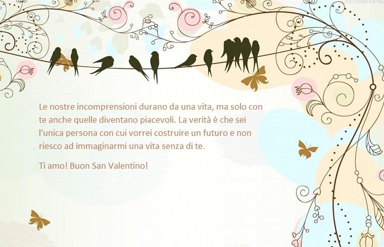 Immagine di stile vintage con scritta e dedica per un Buon San Valentino