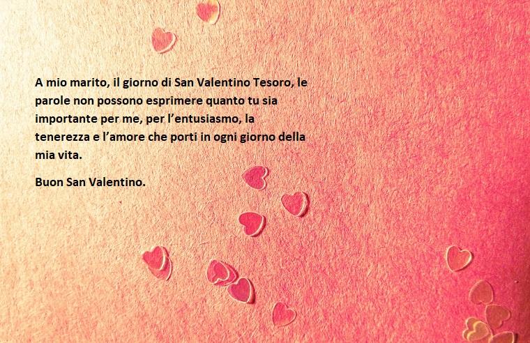 Dedica al marito per la festa di San Valentino, immagine con sfondo rosa e cuori