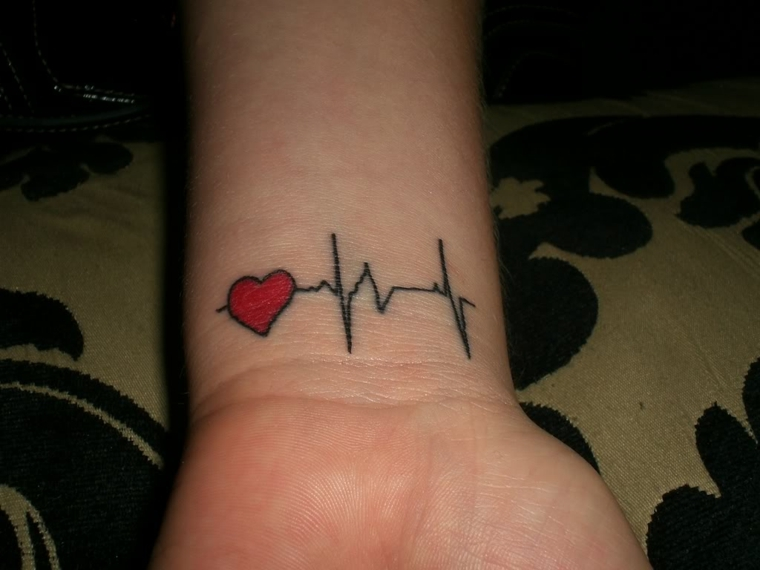 una proposta per un tattoo cuoricino sul polso da realizzare anche in coppia