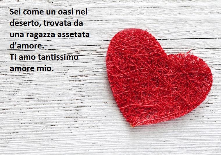 Pensiero carino da mandare nel giorno degli innamorati con dedica sull'amore