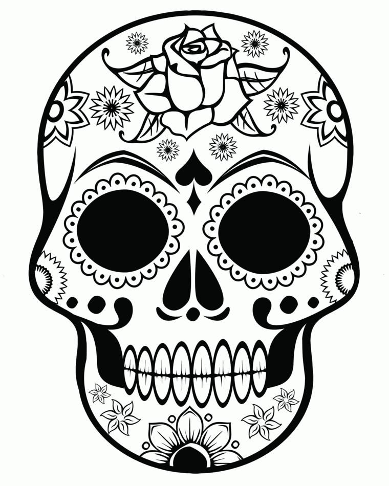 disegni teschi messicani, un'idea tutta da copiare e da rendere personale per un tatuaggio