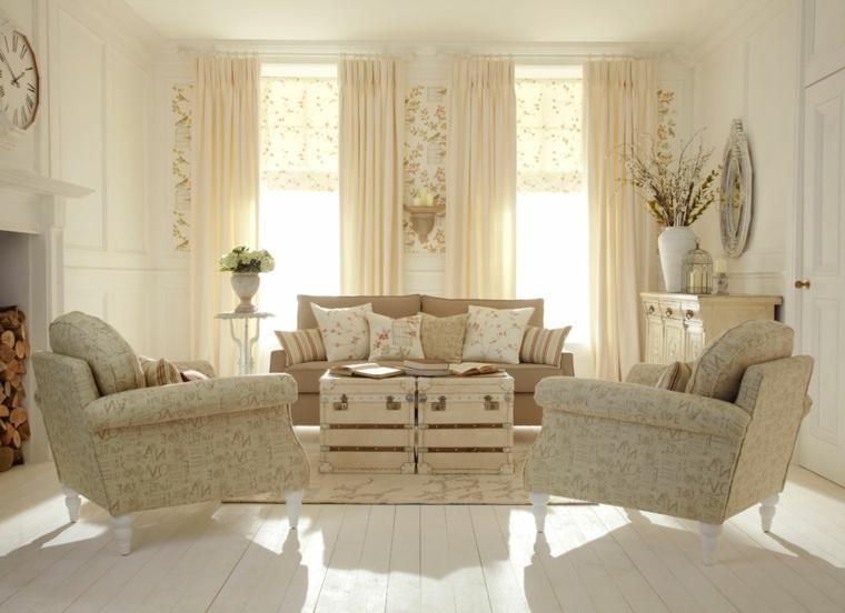 1001 idee per stile shabby l 39 arredo e la decorazione - Soggiorno country chic ...