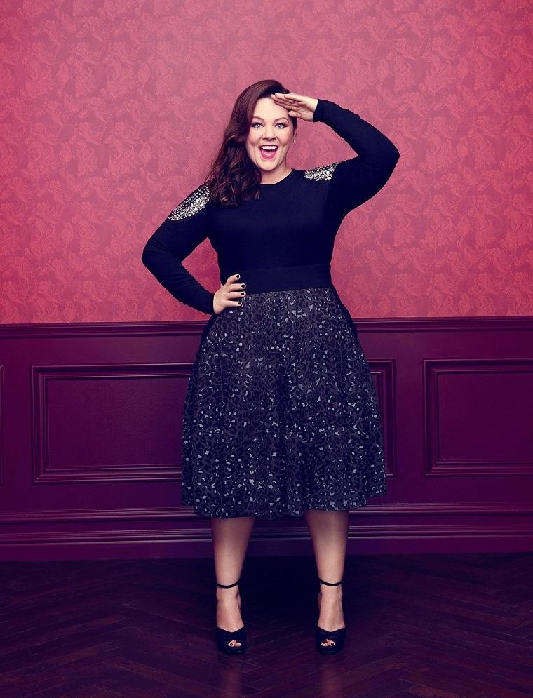 Linea di abbigliamento di Melissa McCarthy, attrice americana con capelli castani mossi