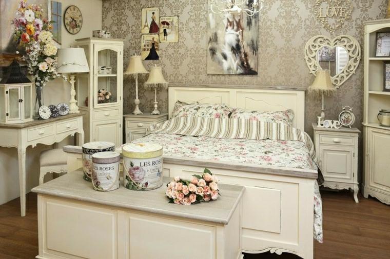 1001 idee per stile shabby l 39 arredo e la decorazione - Fiori in camera da letto ...