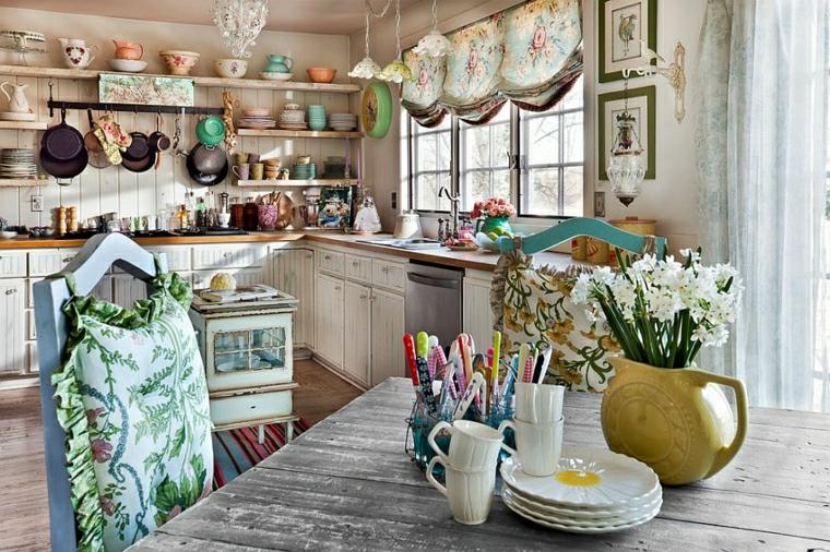 1001 idee per stile shabby l 39 arredo e la decorazione for Decorazioni tende