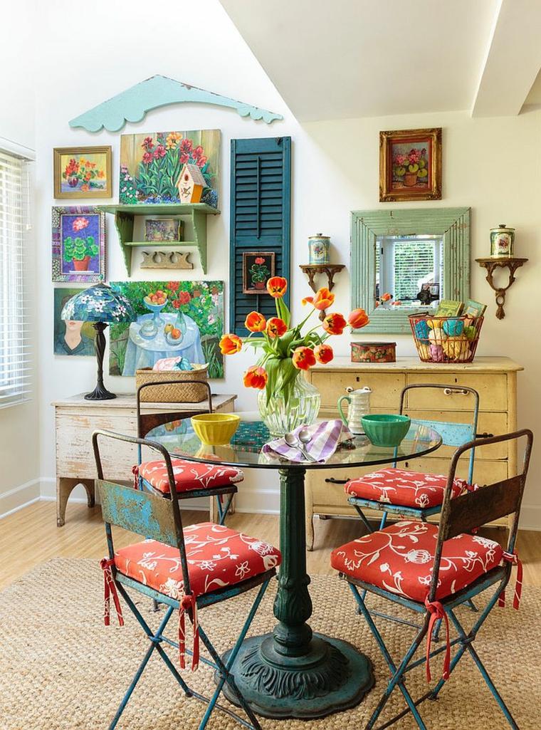 1001 idee per stile shabby l 39 arredo e la decorazione for Quadri decorativi arredamento
