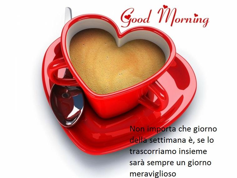 una dedica speciale con delle belle frasi di buongiorno da dedicare alla persona del cuore