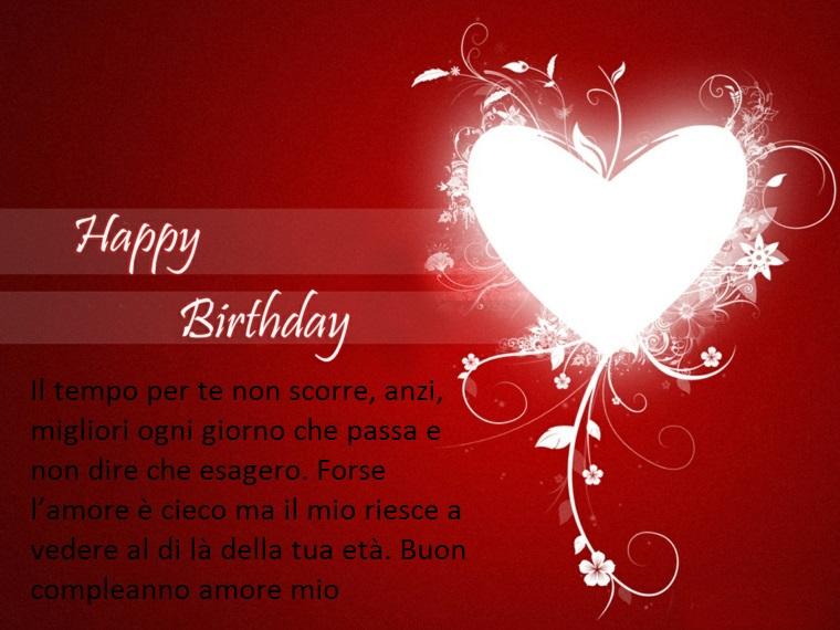 un'idea di frasi belle compleanno per il proprio amore tutta da copiare