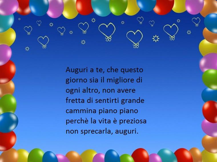 idea per messaggi di auguri di compleanno per un diciottenne dove si sottolinea il valore della vita