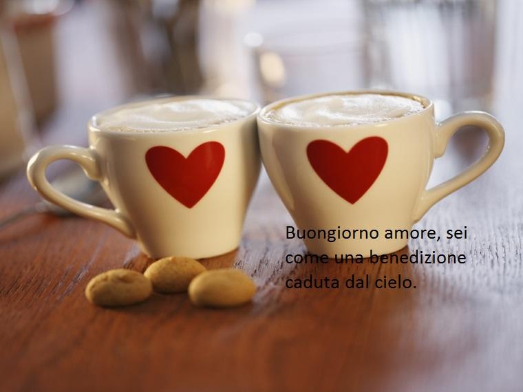 un'idea di frasi per augurare buongiorno semplice ma ricca di affetto nei confronti della persona amata