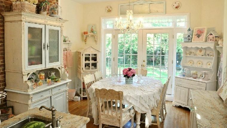 1001 idee per stile shabby l 39 arredo e la decorazione for Colori per la sala