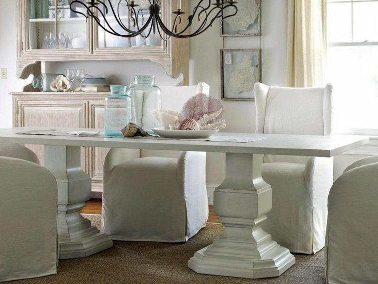 1001 idee per stile shabby l 39 arredo e la decorazione - Sala da pranzo shabby chic ...