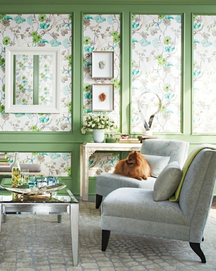 1001 idee per stile shabby l 39 arredo e la decorazione for Arredare con carta da parati