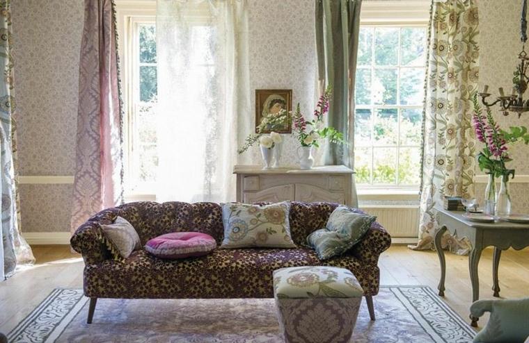 1001 idee per stile shabby l 39 arredo e la decorazione for Soggiorno arredato