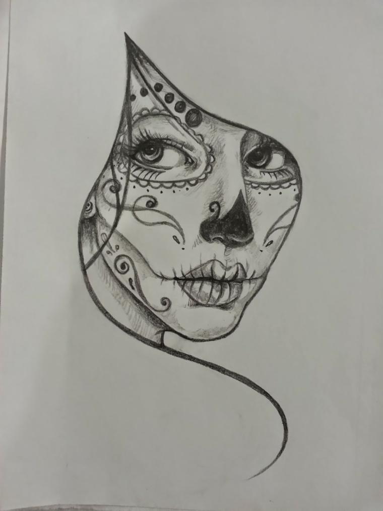 1001 idee per teschio messicano tutte da copiare for Teschi da disegnare