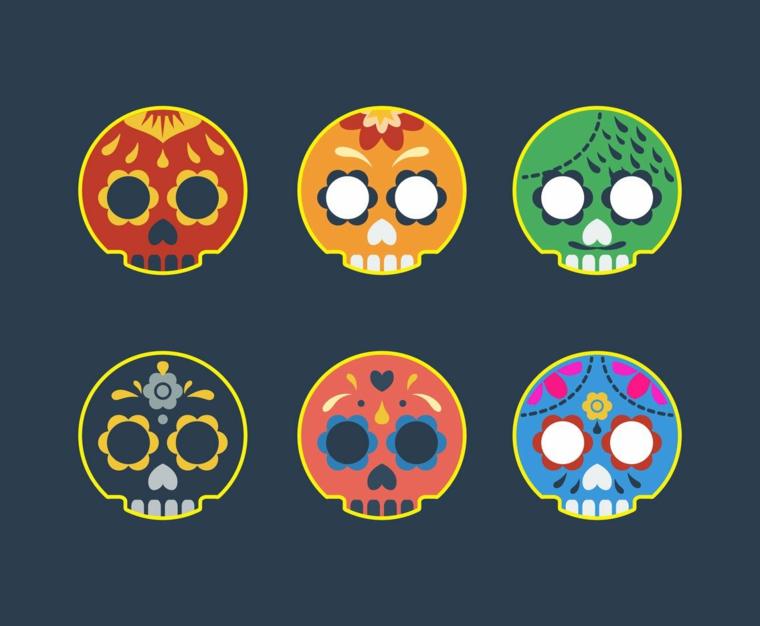 tatuaggio teschio messicano, sei disegni originali e colorati per ogni gusto e stile