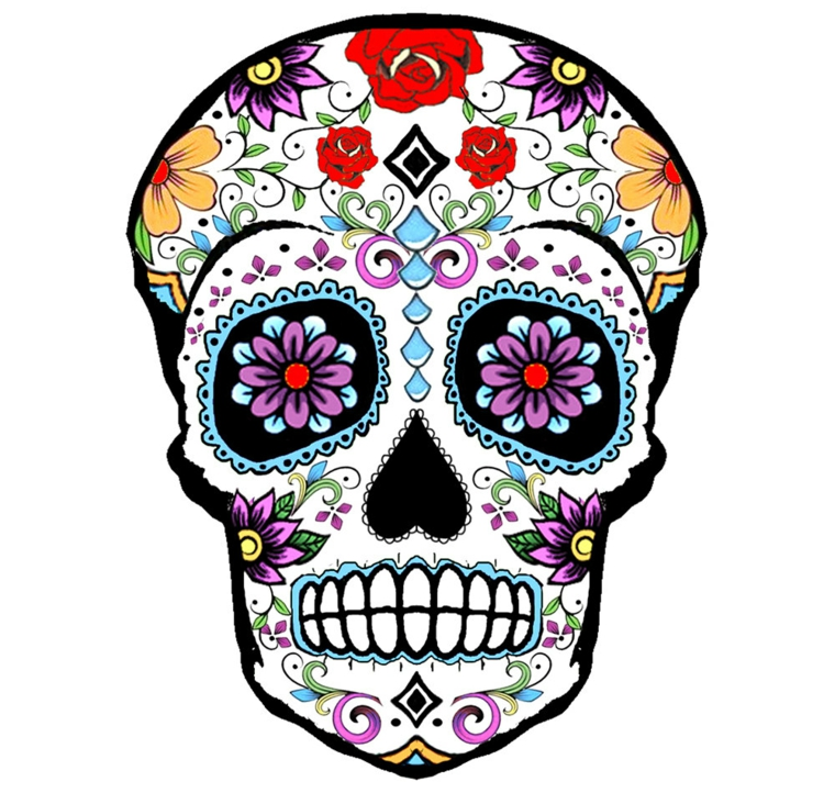 ROSE /& Cuore Collana ispirata da El Dia de los Muertos Giorno dei morti-Teschio