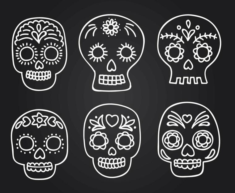 tattoo teschio messicano, alcune proposte originali per realizzare dei tattoo anche piccoli
