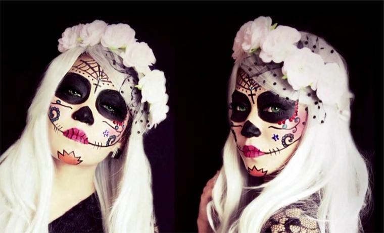 immagini teschi messicani, una proposta tutta da copiare per il makeup di halloween