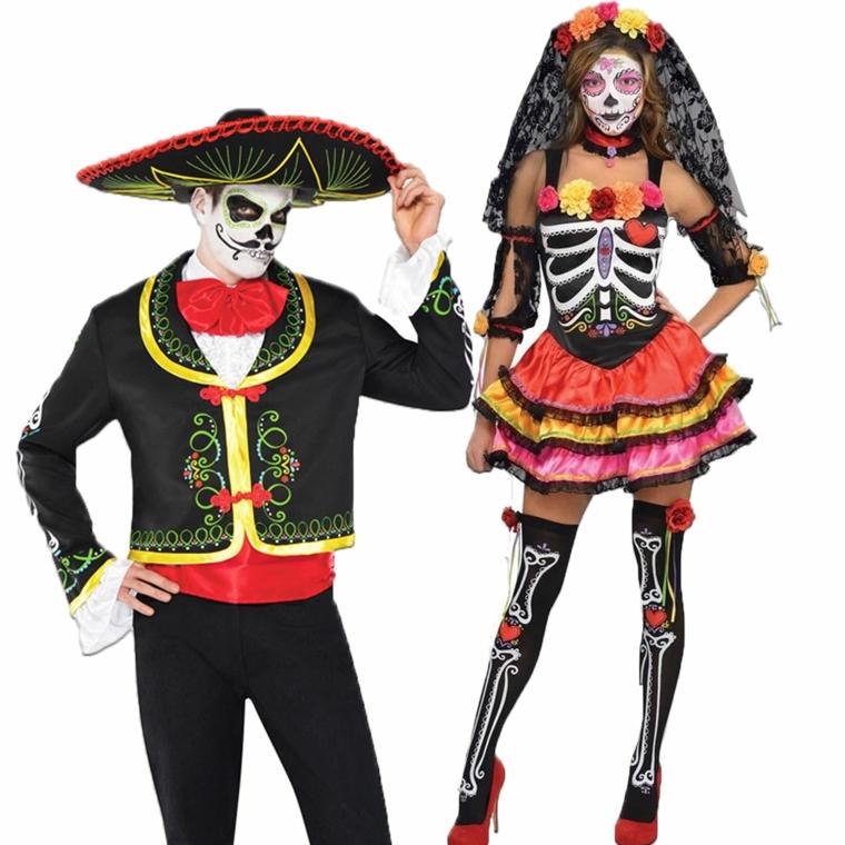 immagini teschi messicani, travestimenti e makeup per lei e per lui da sfoggiare ad halloween