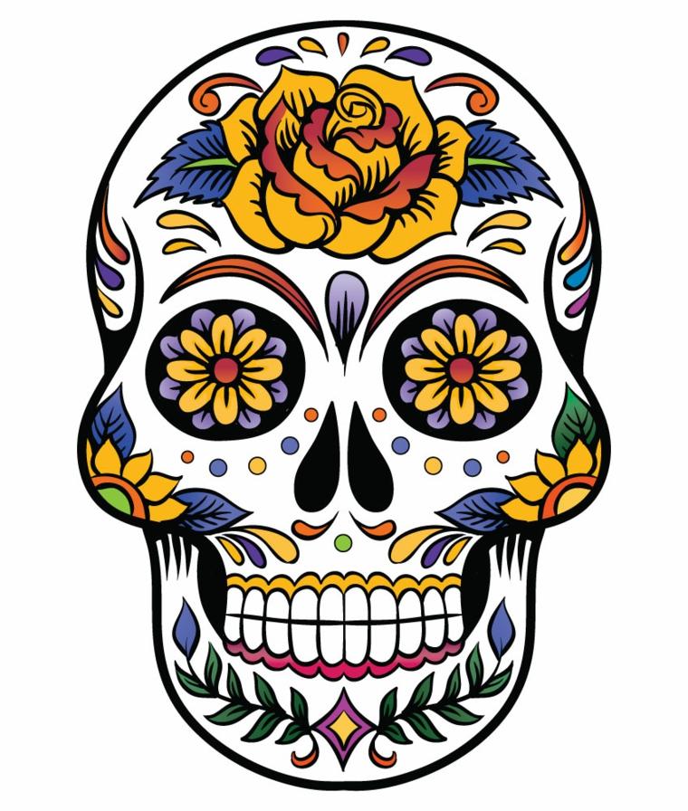 1001 idee per teschio messicano tutte da copiare for Disegni portico messicano