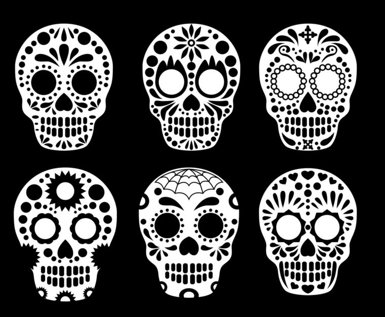 tatuaggi teschi messicani, alcune idee tutte da copiare, colorare e personalizzare