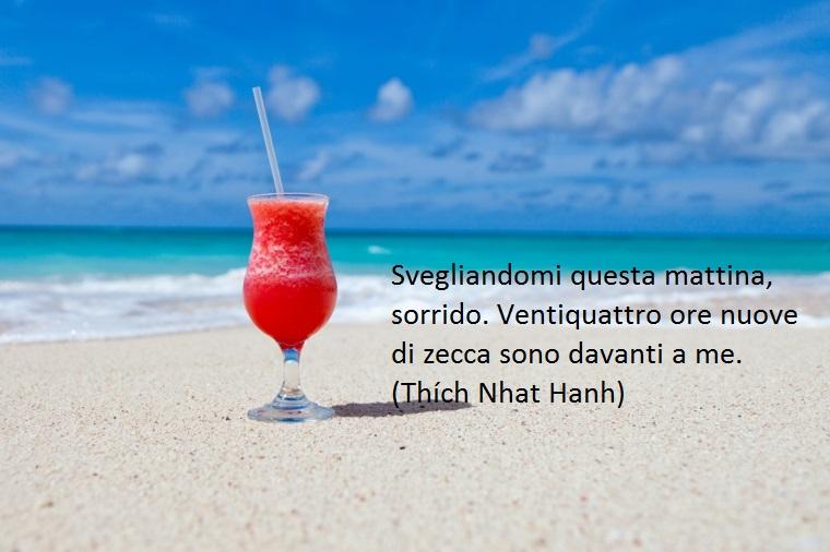 scitta da thich nhat hanh, una proposta di buongiorno frasi belle che sottolinea l'importanza di avere a disposizione un nuovo giorno