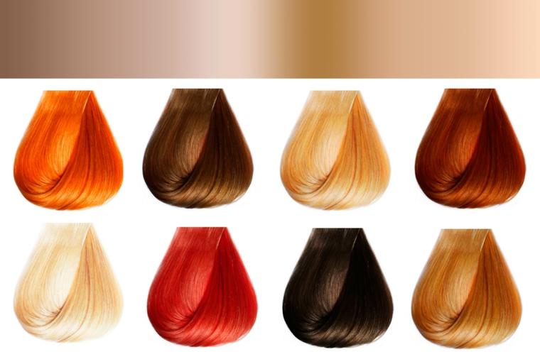 Palette con le diverse tonalità di tinta in voga nel 2018