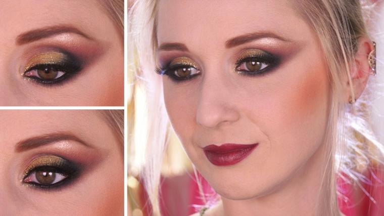 makeup perfetto per delle occasioni speciali con gli occhi, marroni, in primo piano