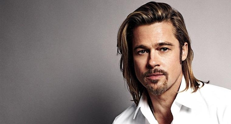 Gli uomini più belli del mondo, Brad Pitt con un'acconciatura capelli lunghi di colore biondo